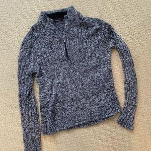 Men's Michael Brandon grey quarter zip sweater